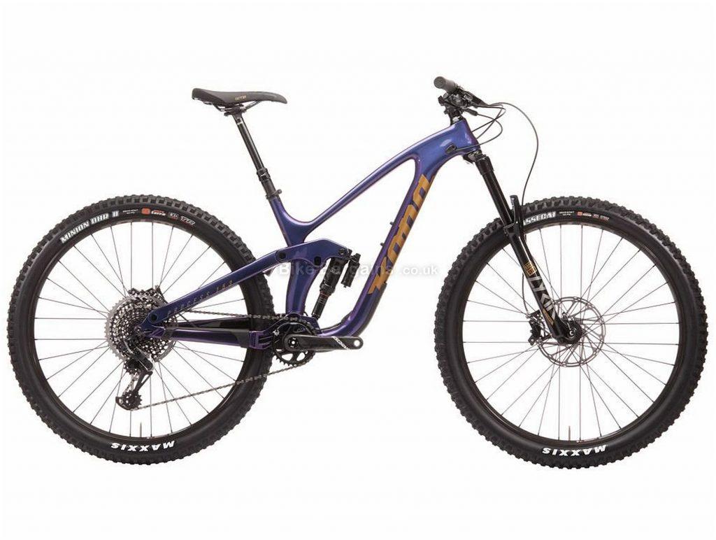 "Kona Process 153 CR / DL 29er Carbon Full Suspension Mountain Bike 2020 XL, Purple, Black, 12 Speed, Carbon Frame, Disc Brakes, 29"" wheels"