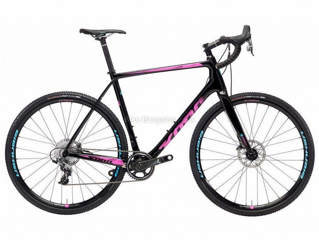 Kona Super Jake Carbon Cyclocross Bike 2018 48cm,50cm,52cm,54cm, Black, Pink, 700c, Disc Brakes, Rigid, 11 Speed, Carbon
