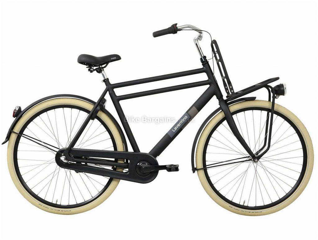 "Laventino Ranger 3 Alloy City Bike 23"", Black, 700c, Rigid, 3 Speed, 19kg, Alloy"