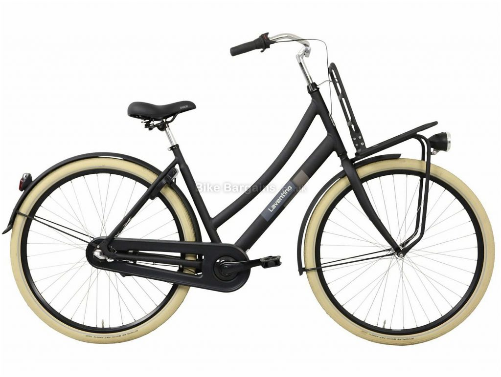 Laventino Ranger 3 Ladies Alloy City Bike 50cm,55cm, Black, 700c, Rigid, 3 Speed, 19kg, Alloy