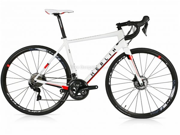 Merlin Cordite 105 R7000 Limited Edition Disc Carbon Road Bike 55cm, White, Red, Carbon, 700c, Disc, 22 Speed