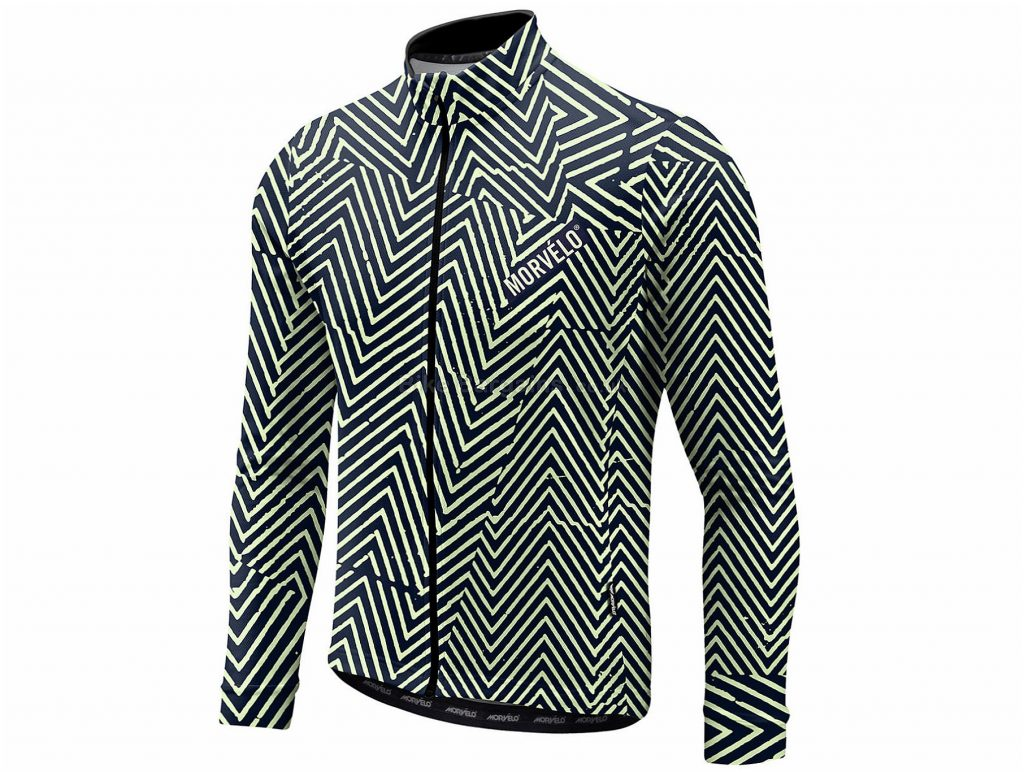 Morvelo Damaged Long Sleeve Jersey XS, Grey, White, Long Sleeve, Polyester