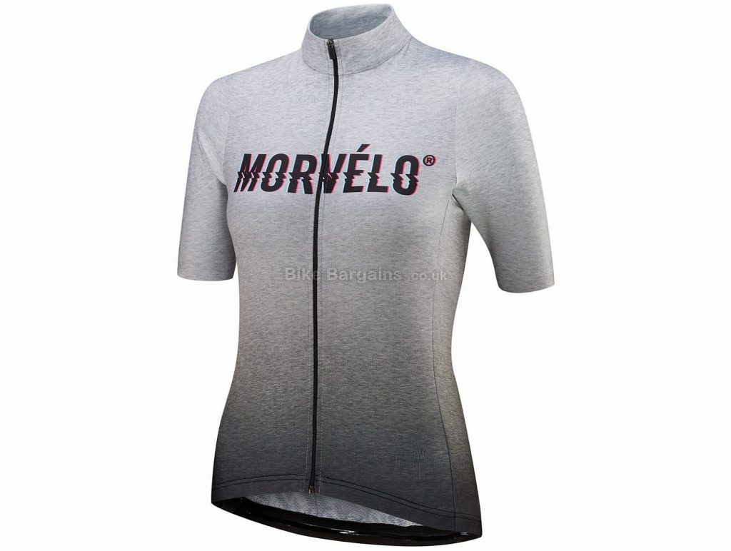 Morvelo Ladies Noise Standard Short Sleeve Jersey L, Black, White, Short Sleeve, Polyester