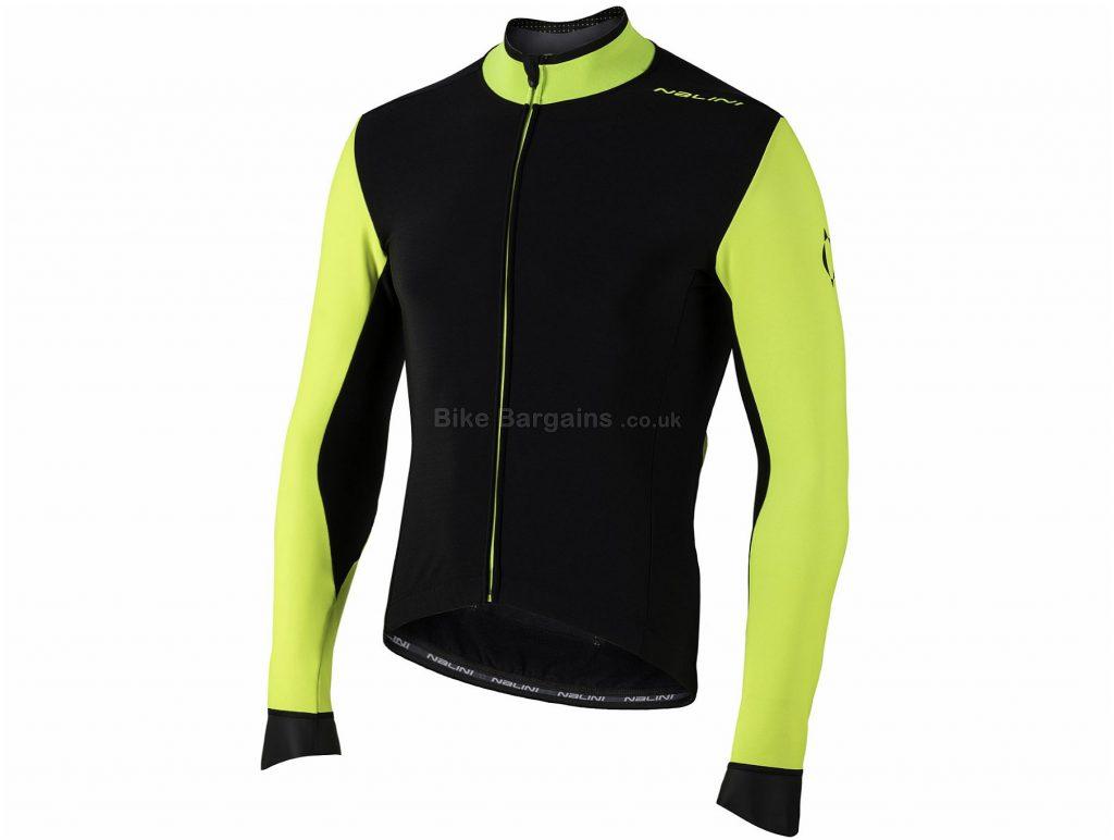 Nalini AHW Pro Gara Long Sleeve Jersey S, Black, Yellow, Long Sleeve, Polyamide, Polyurethane, Elastane