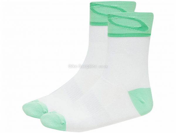 Oakley 3.0 Socks S, White, Green