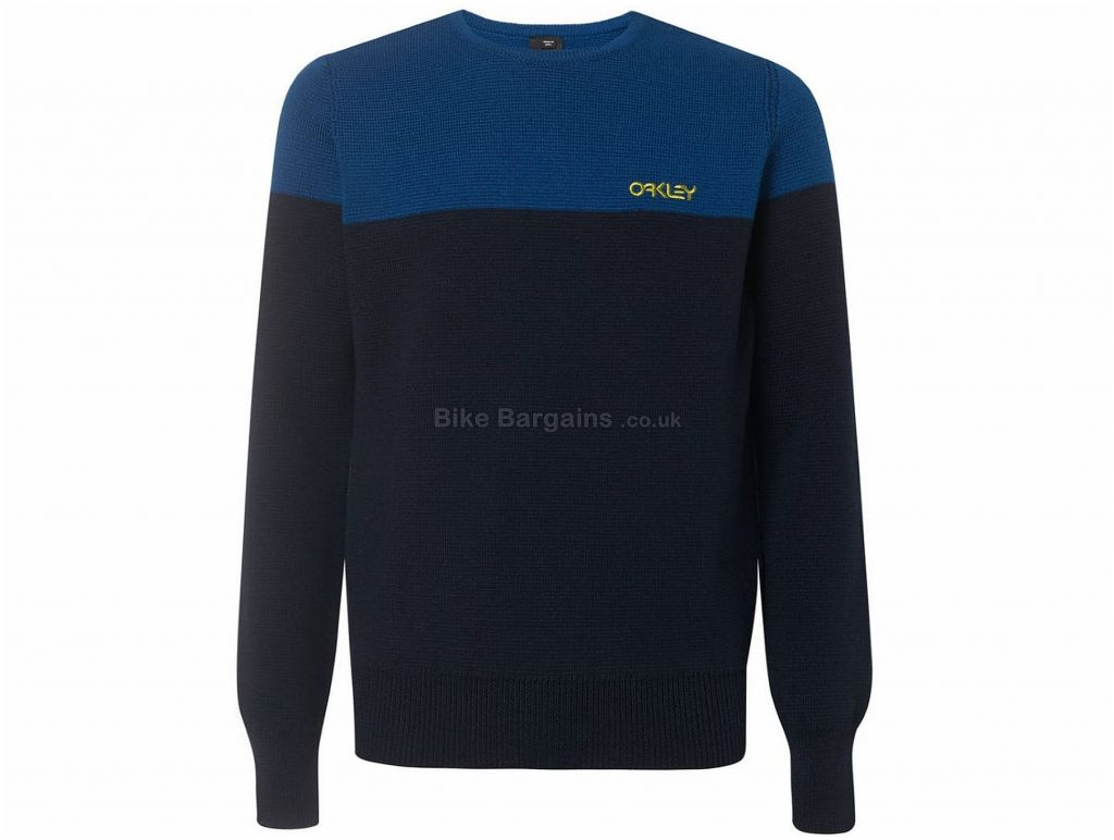 Oakley BiColour Crew Neck Long Sleeve T-Shirt XXL, Blue, Black, Long Sleeve, Cotton