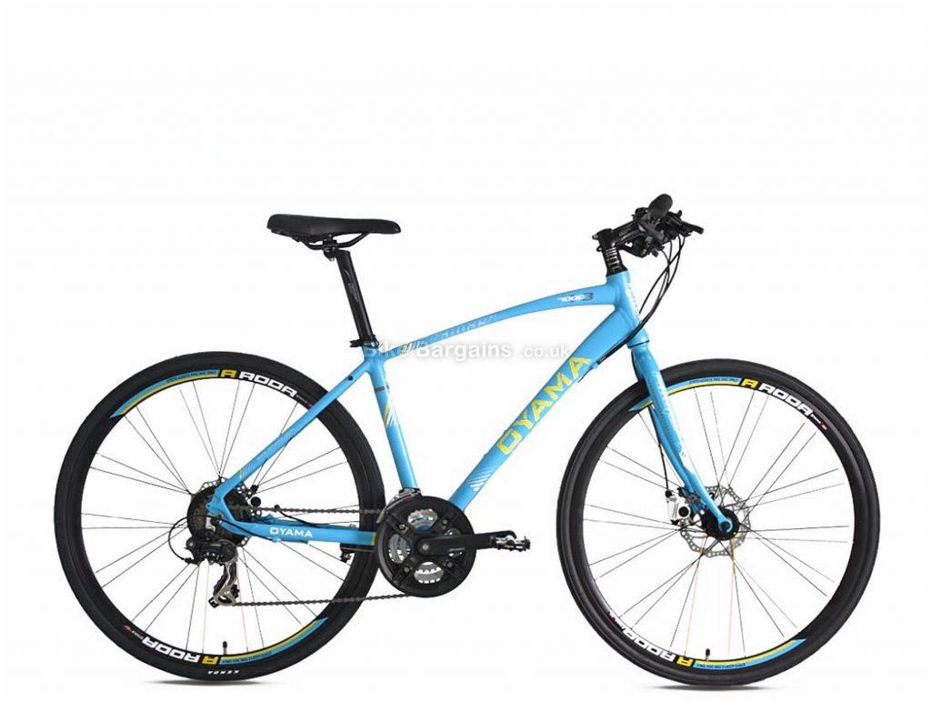 """Oyama Ranger 1.3 Alloy Hybrid Bike 17"""", Blue, Black, Alloy Frame, Disc Brakes, 21 Speed, 700c Wheels, Triple Chainring"""