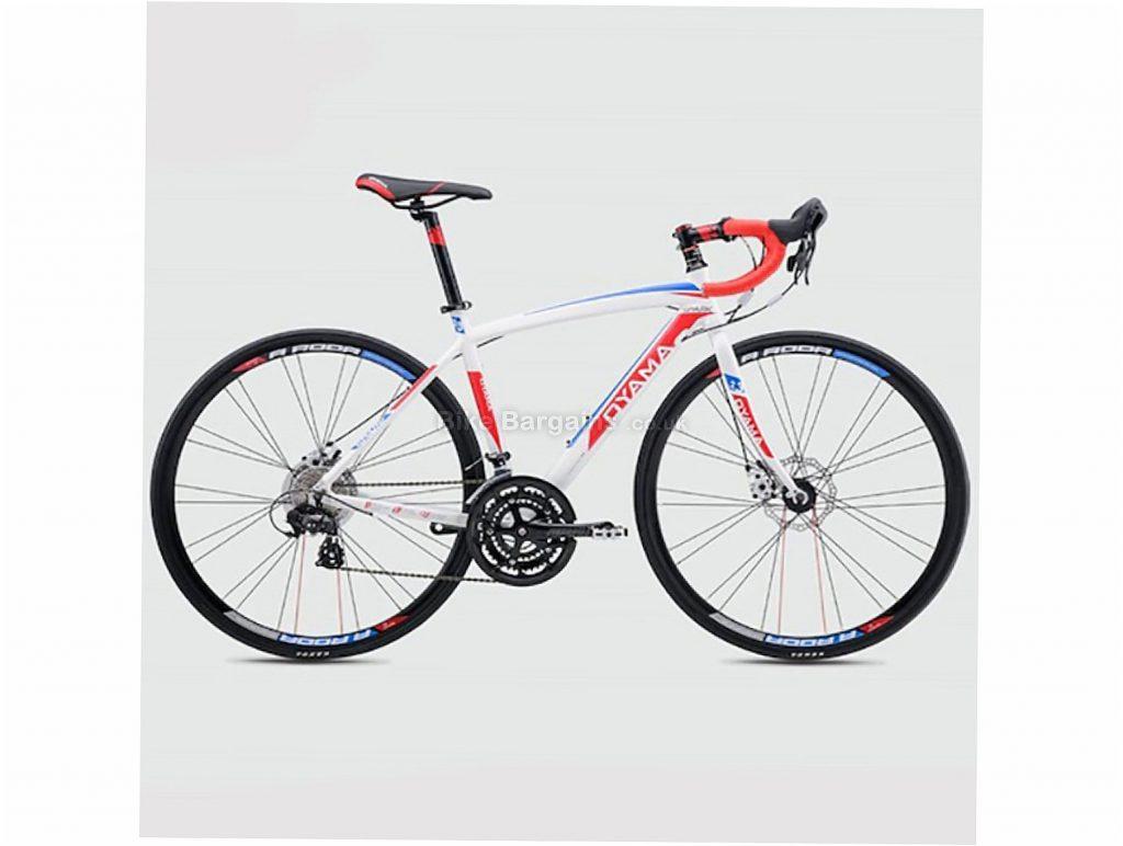 Oyama Spark 2.3 Disc Alloy Road Bike 48cm, White, Red, Yellow, Alloy Frame, Disc Brakes, 21 Speed, 700c Wheels, Triple Chainring