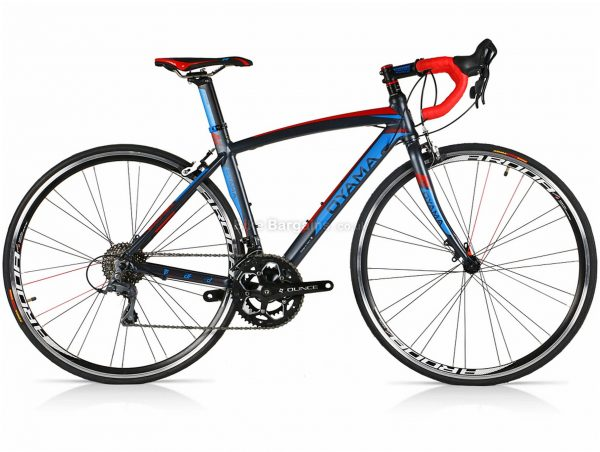 Oyama Spark 2.5 Alloy Road Bike 48cm, Grey, White, Black, Red, Blue, Alloy Frame, Caliper Brakes, 16 Speed, 700c Wheels, Double Chainring