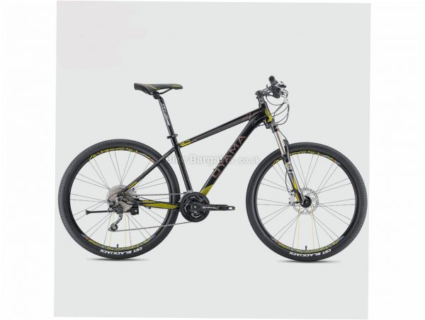 "Oyama Spartan 3.7 Alloy Hardtail Mountain Bike 15"",17"", Black, White, Yellow, Red, Blue, Alloy Hardtail Frame, Disc Brakes, 30 Speed, 27.5"" Wheels, Triple Chainring"