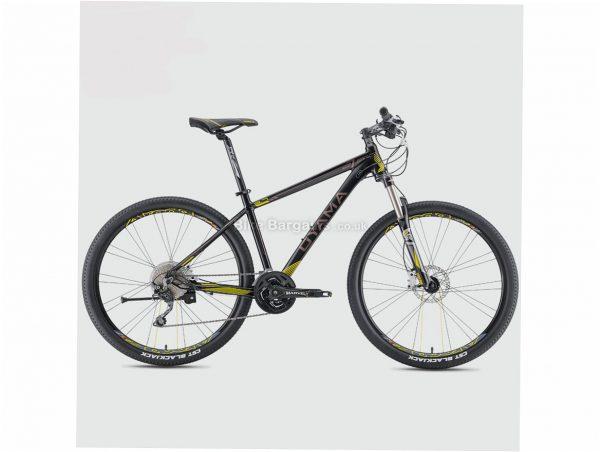 """Oyama Spartan 3.7 Alloy Hardtail Mountain Bike 15"""", Black, White, Yellow, Red, Blue, Alloy Hardtail Frame, Disc Brakes, 30 Speed, 27.5"""" Wheels, Triple Chainring"""