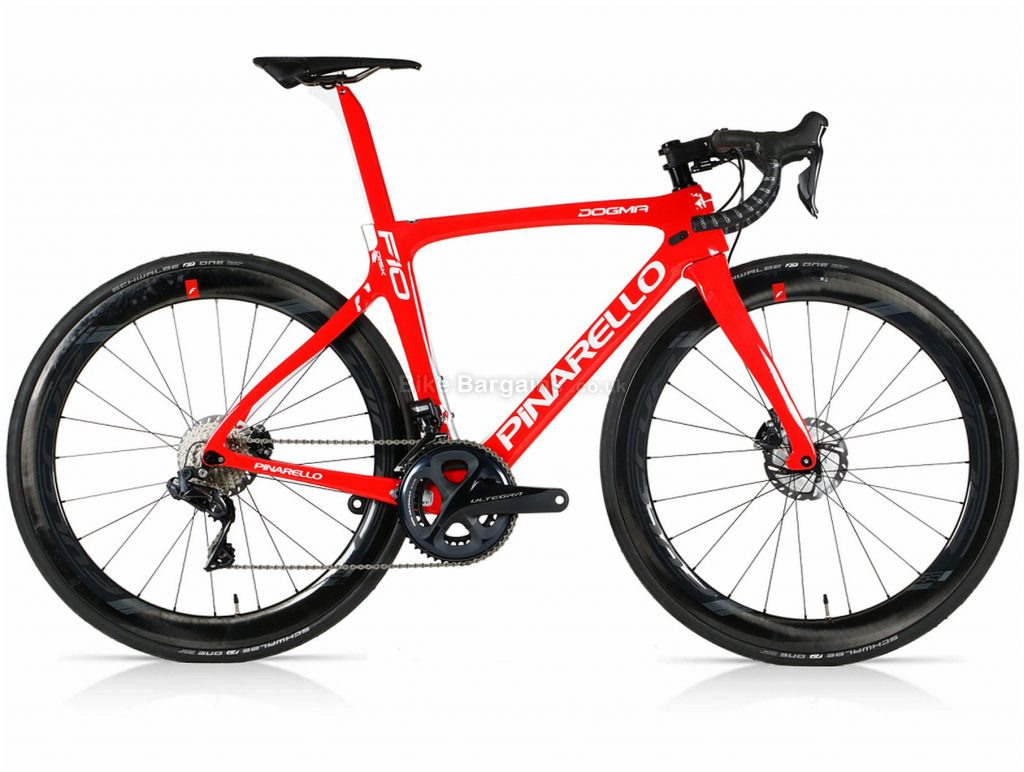 Pinarello Dogma F10 Disc Ultegra Di2 Limited Edition Carbon Road Bike 50cm, Red, Carbon Frame, Disc Brakes, 22 Speed, 700c Wheels, Double Chainring