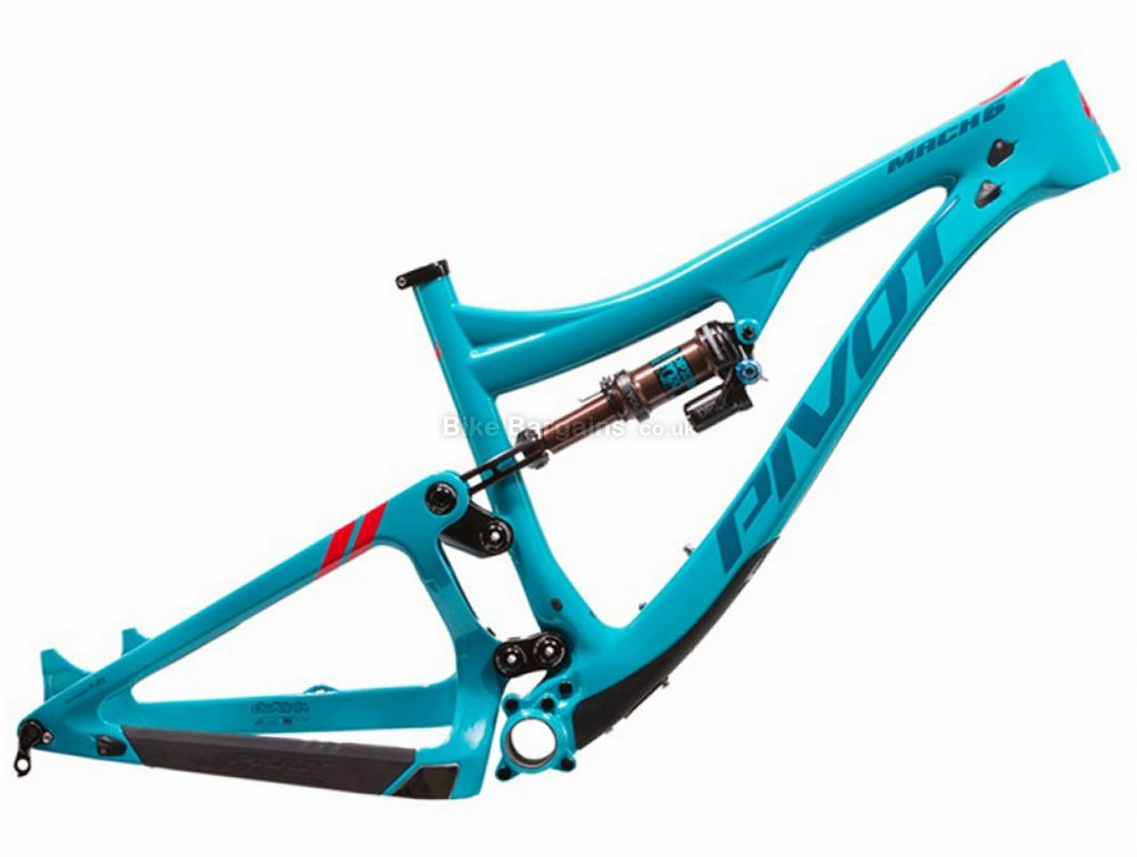"Pivot Mach 6 Carbon Full Suspension MTB Frame L, Blue, Carbon Frame, 27.5"", Disc, Full Suspension"