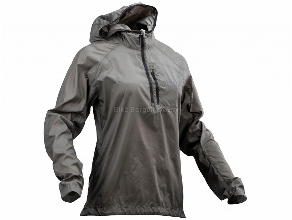 Race Face Ladies Nano Packable Jacket M, Grey, Long Sleeve, Polyamide