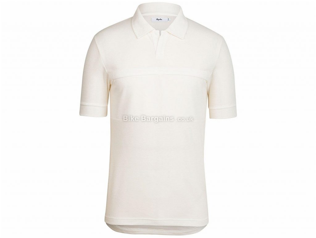 Rapha Classic Short Sleeve Polo Shirt XS, White, Short Sleeve