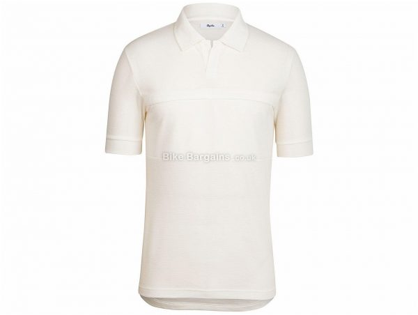Rapha Classic Short Sleeve Polo Shirt XS, White, Short Sleeve