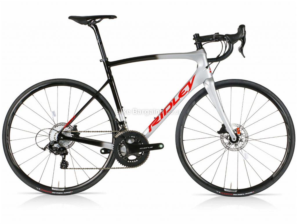Ridley Fenix SL Disc Chorus Carbon Road Bike L, Silver, Black, Carbon Frame, Disc Brakes, 24 Speed, 700c Wheels, Double Chainring