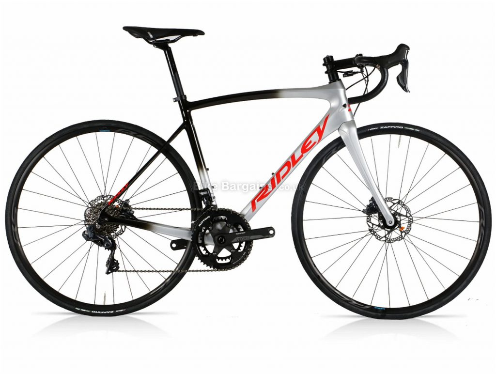 Ridley Fenix SL Disc Ultegra Di2 Carbon Road Bike S, Silver, Black, Carbon Frame, Disc Brakes, 22 Speed, 700c Wheels, Double Chainring