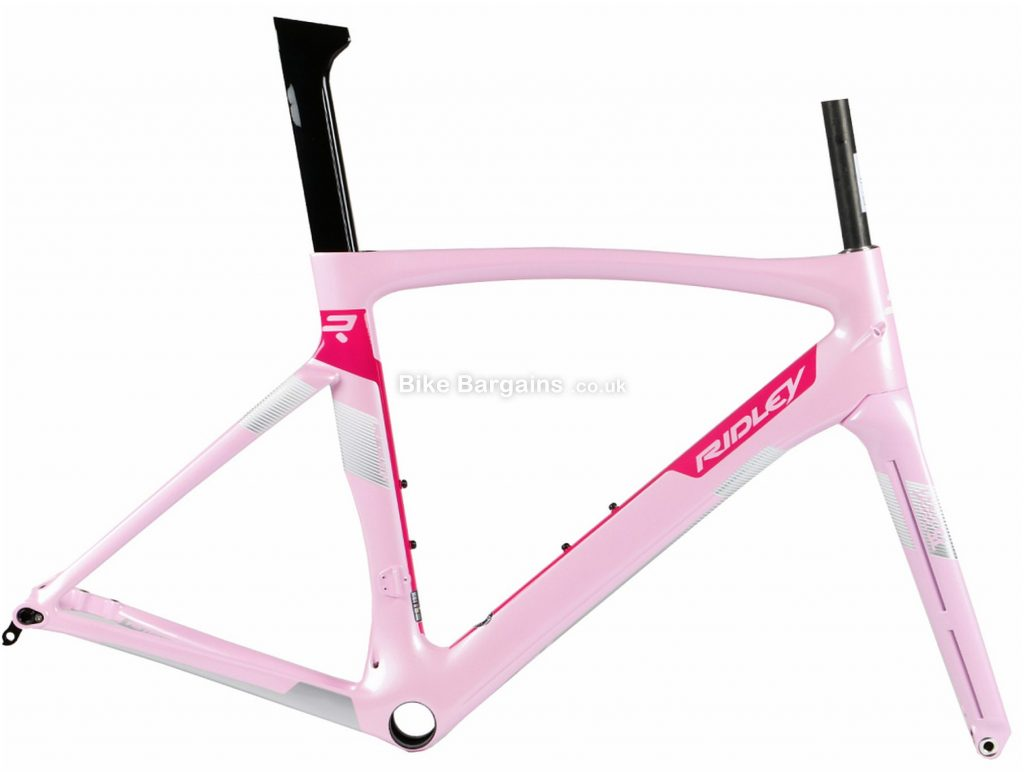 Ridley Jane SL Disc Ladies Carbon Road Frame S, Pink, Black, White, Purple, Carbon Frame, 700c, Disc