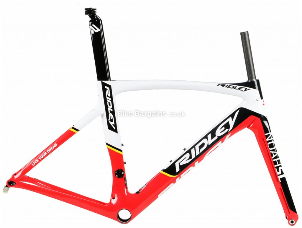 Ridley Noah SL Disc Carbon Road Frame L, Red, Black, Yellow, Grey, Carbon Frame, 700c, Disc