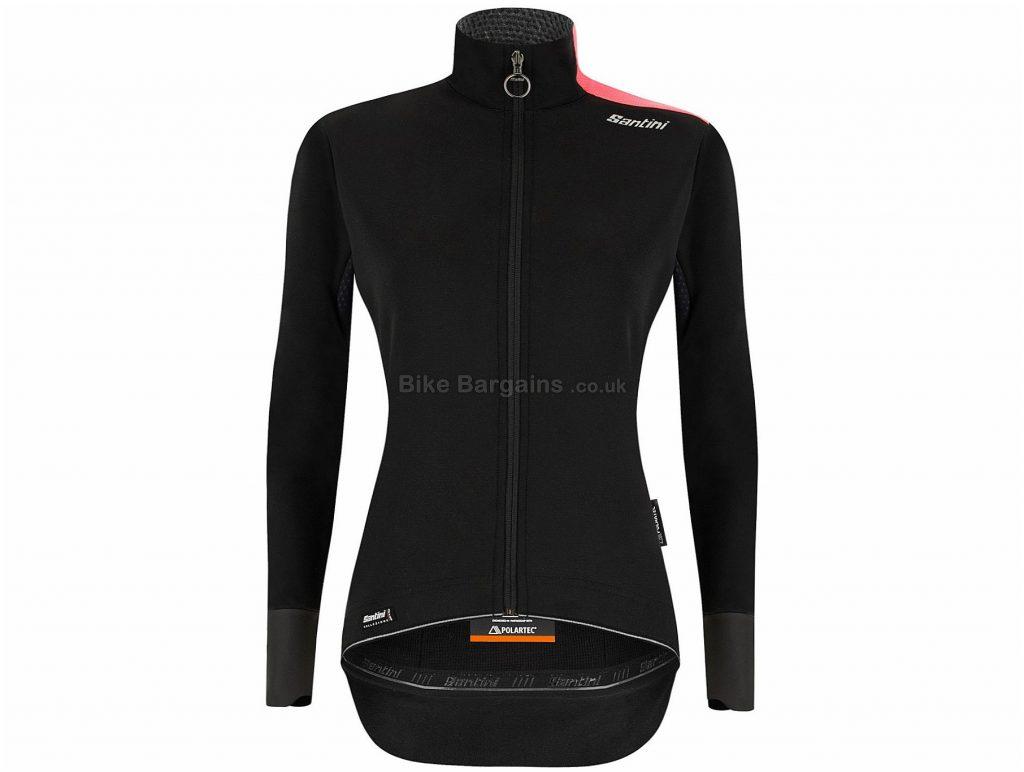 Santini Ladies Vega Extreme Jacket XL, Black, Long Sleeve, Polyester, Elastane