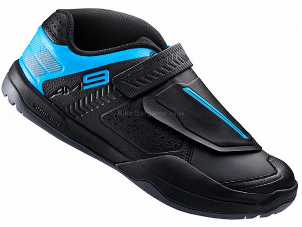 Shimano AM9 MTB Shoes 36, Blue, Black, 744g, Velcro & Laces fastening
