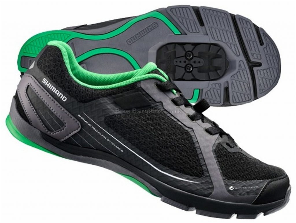 Shimano CT41 Touring Shoes 36,37, Black, Green, Laces fastening