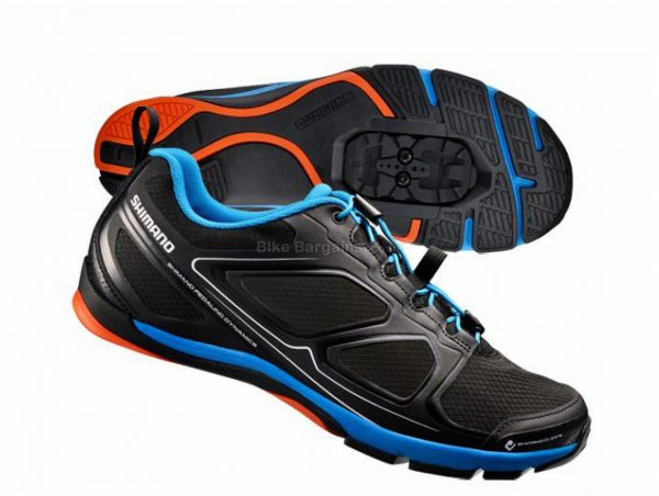Shimano CT71 Touring Shoes 38, Black, Blue, Red, Laces fastening