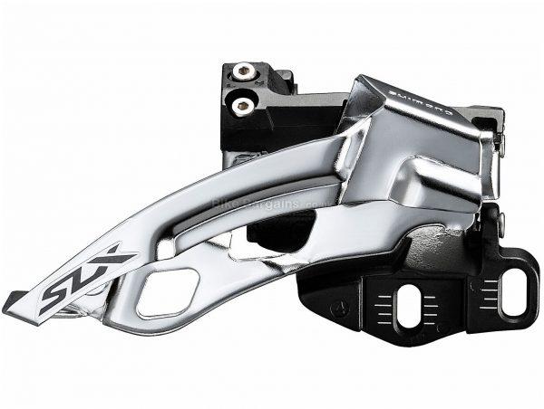 Shimano SLX M7005 E2-Type 10 Speed MTB Triple Front Derailleur 10 Speed, Triple, Black, Silver, 143g, Alloy
