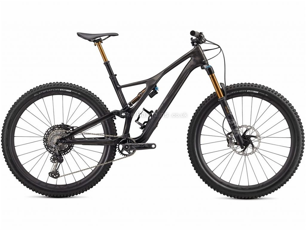 "Specialized S-Works Stumpjumper Carbon 29"" Full Suspension Mountain Bike 2020 L, Black, Grey, 12 Speed, Carbon Frame, Disc Brakes, 29"" wheels"