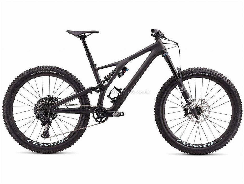 "Specialized Stumpjumper Evo Pro 27.5"" Carbon Full Suspension Mountain Bike 2020 L, Black, 12 Speed, Carbon Frame, Disc Brakes, 27.5"" wheels"