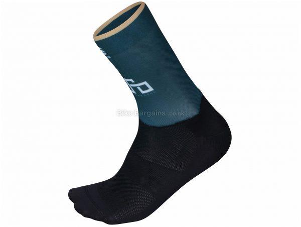 Sportful Sagan Gold Socks S, Blue, Black