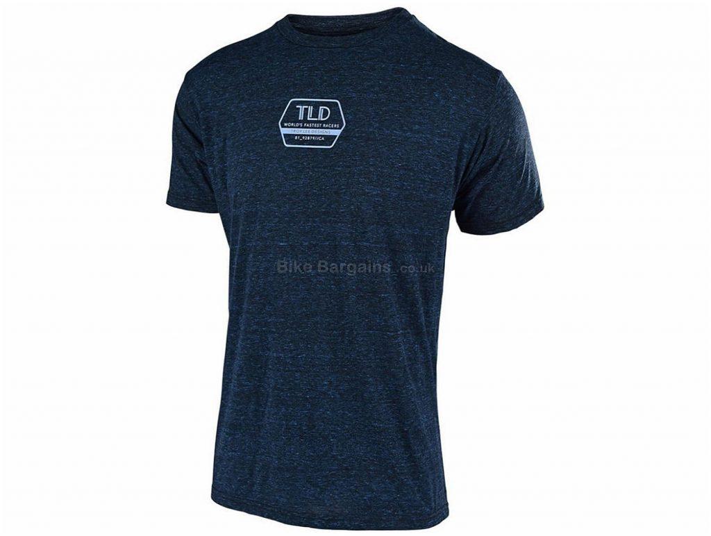 Troy Lee Designs Flowline Tech MTB T-Shirt 2019 XXL, Grey, Blue