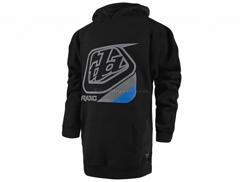 Troy Lee Designs Precision Youth Pullover Hoodie S, Black, Grey, Blue