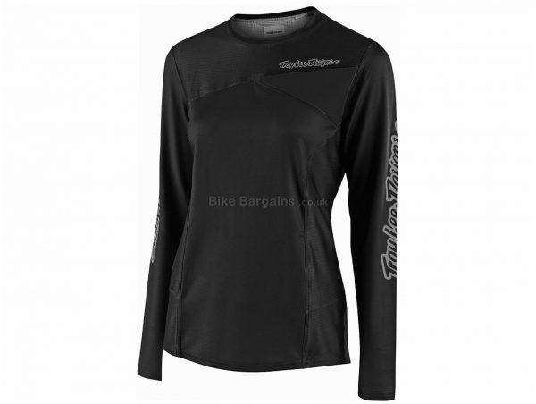 Troy Lee Designs Skyline Ladies Long Sleeve Jersey 2019 L, Black, Blue, Grey
