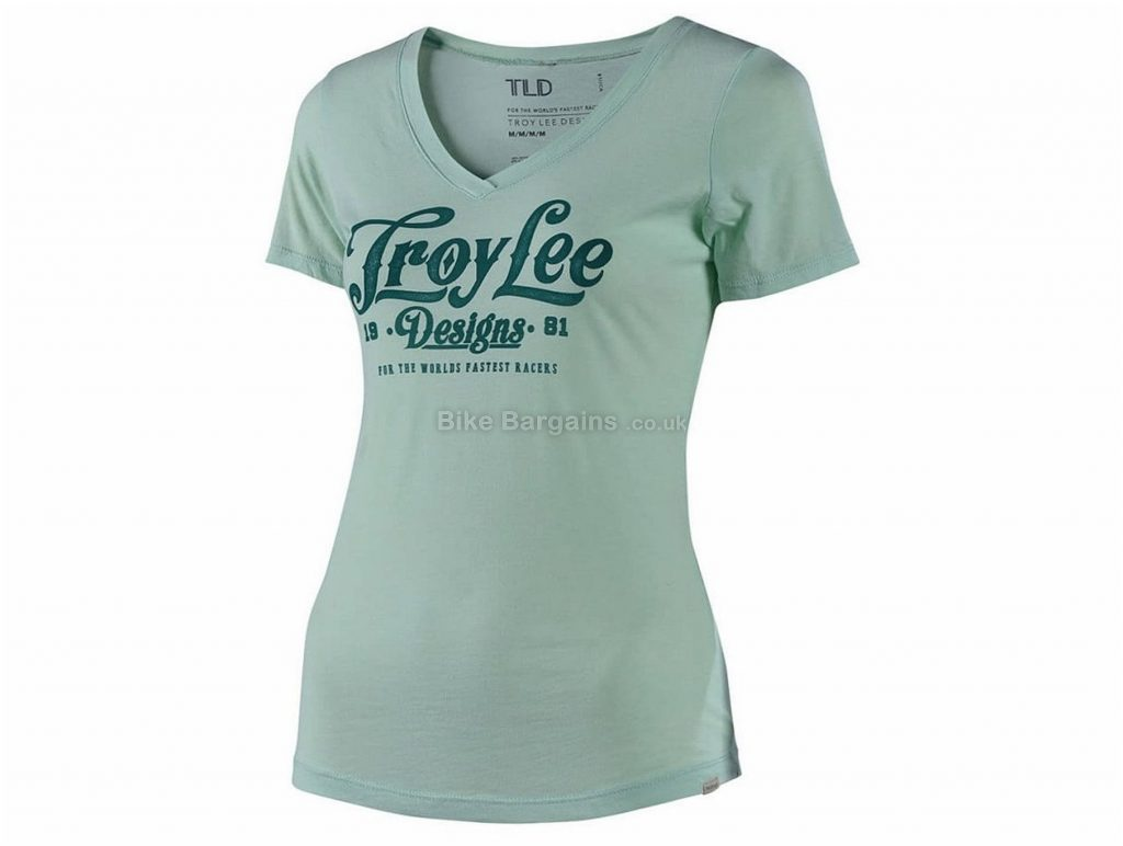 Troy Lee Designs Spiked V-Neck Ladies Short Sleeve Jersey L, Green