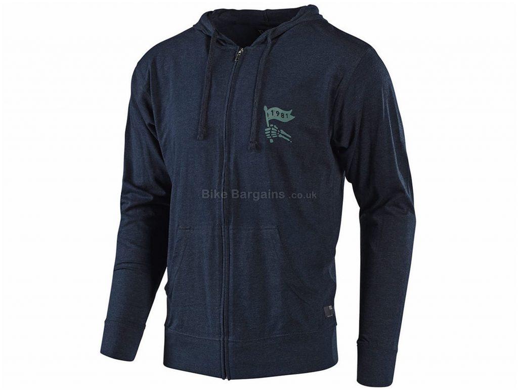 Troy Lee Designs Victory Zip Up Fleece Hoodie M, Blue