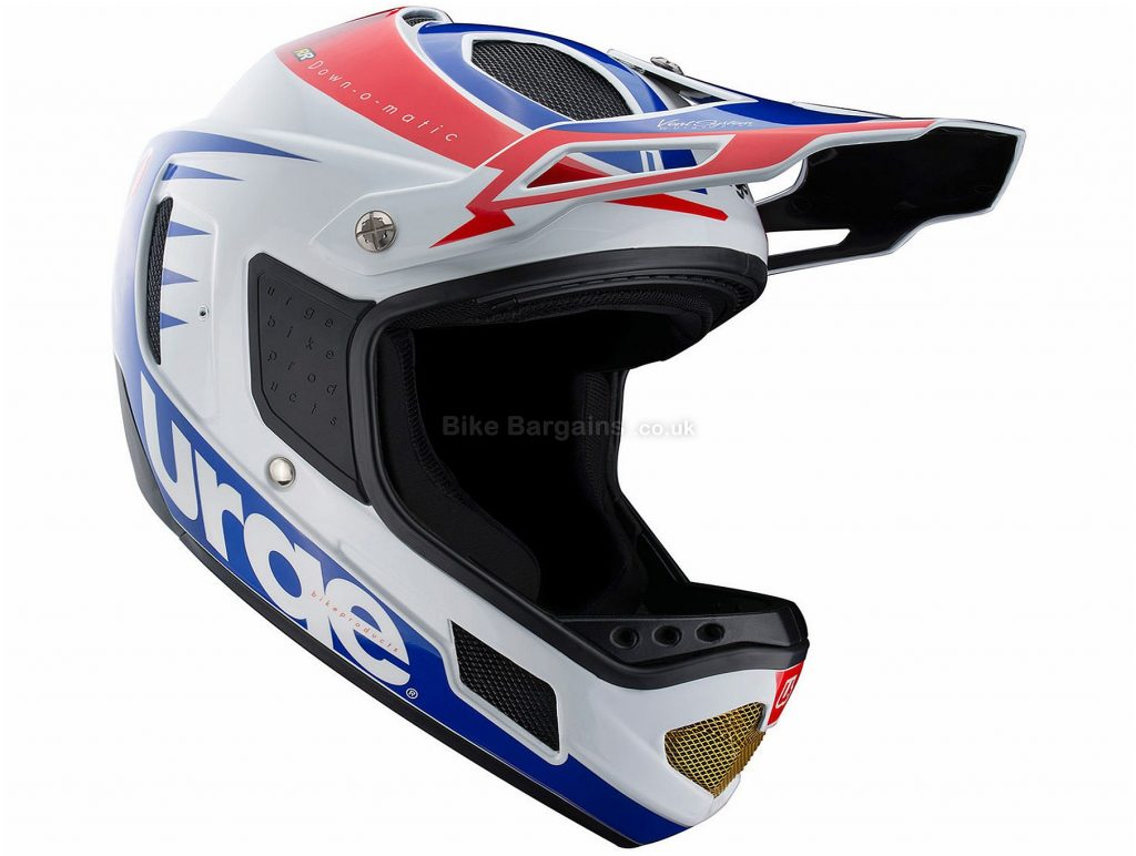 Urge Down-O-Matic Full Face MTB Helmet XS, Black, Red, White, Blue, 10 vents, 1.05kg