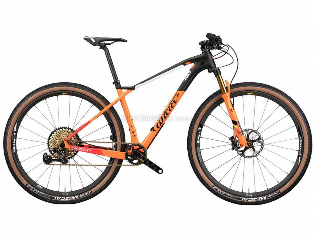 "Wilier 110X Eagle Carbon Hardtail Mountain Bike 2020 S, Black, Orange, Carbon Hardtail Frame, Disc Brakes, 12 Speed, 29"" Wheels, Single Chainring"