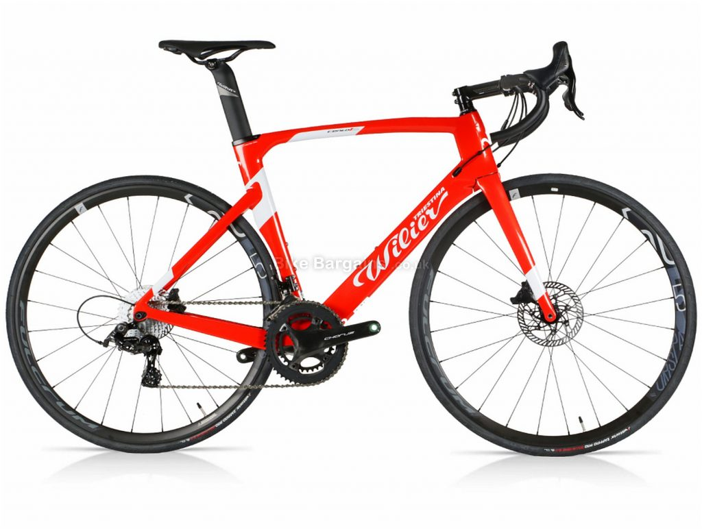 Wilier Cento 10 Air Chorus Disc Carbon Road Bike 2020 L, Red, Carbon Frame, Disc Brakes, 24 Speed, 700c Wheels, Double Chainring