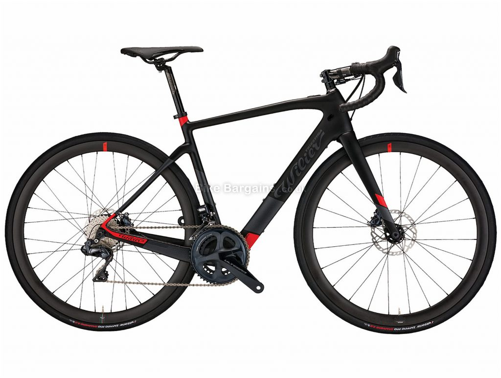 Wilier Cento1 Hybrid Dura Ace SWR Carbon Electric Bike XL, Black, Red, Carbon frame, 700c, 22 Speed, Disc Brakes