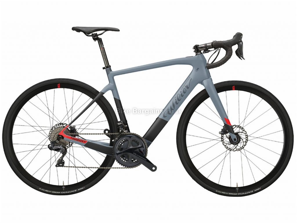 Wilier Cento1 Hybrid NDR 30 Ultegra Carbon Electric Bike 2020 XL, Grey, Black, Red, Carbon Frame, Disc Brakes, 22 Speed, 700c Wheels, Double Chainring