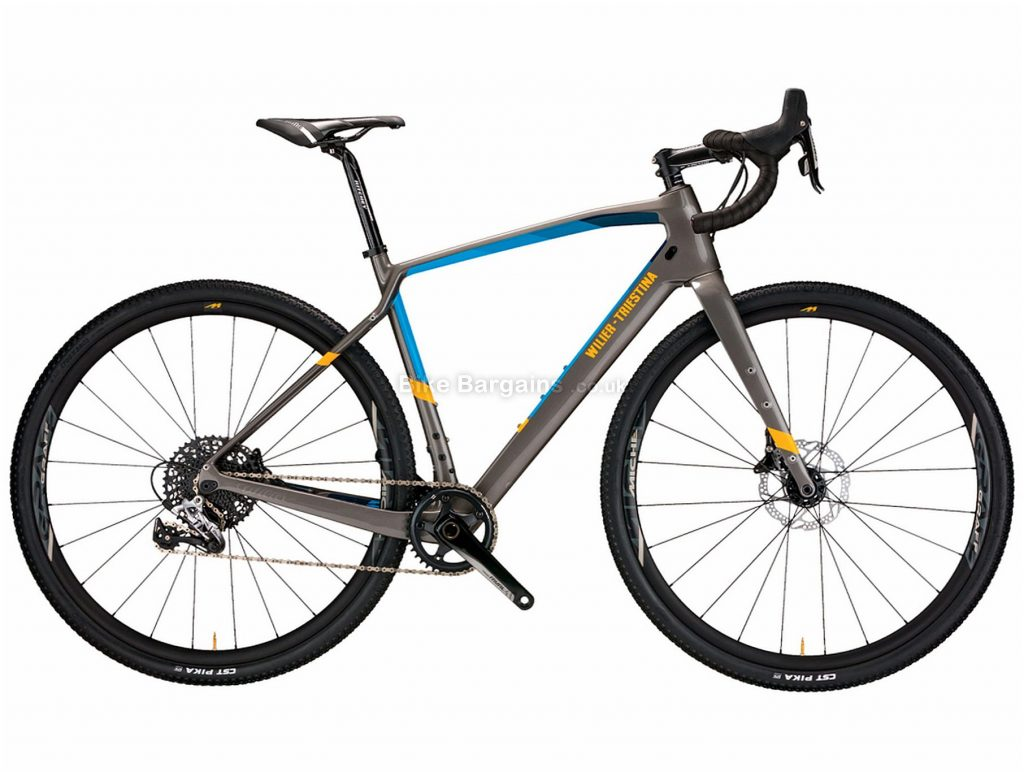 Wilier Jena Rival Carbon Gravel Bike 2020 M, Grey, Blue, Carbon Frame, Disc Brakes, 11 Speed, 700c Wheels, Single Chainring