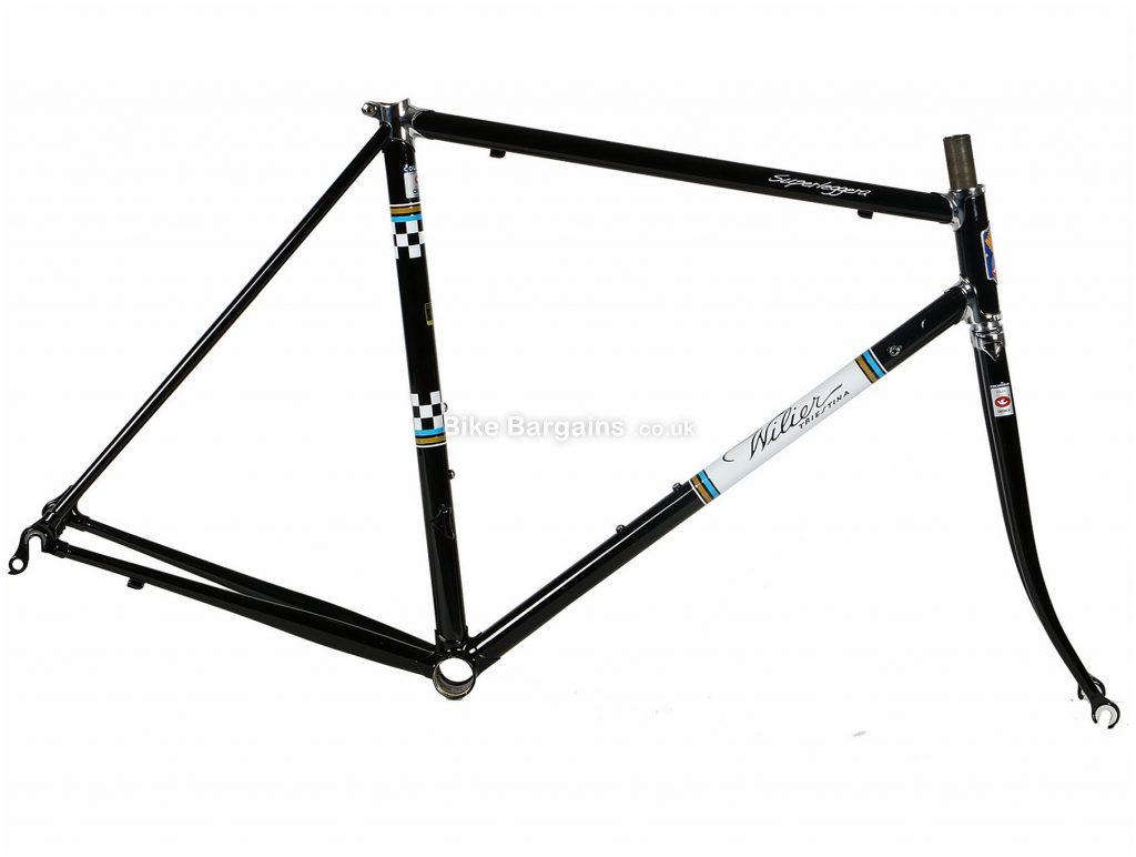 Wilier Superleggera Steel Road Frame 53cm, Black, Red, White, Steel frame, Caliper Brakes