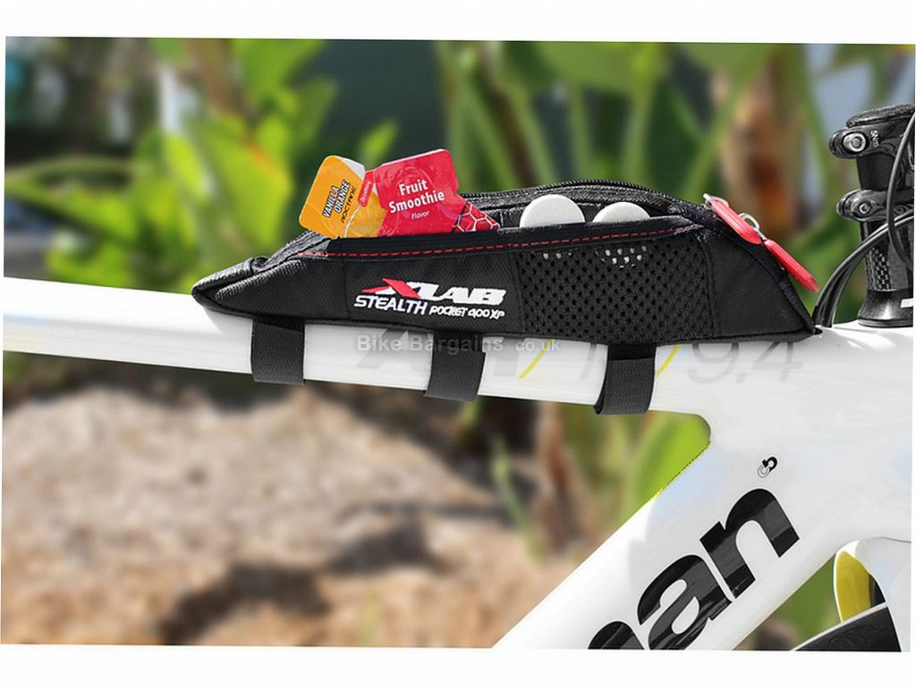 XLAB Stealth Pocket 400Xp Top Tube Bag 0.43 Litres, 27cm, 5cm, 4cm, Black, 88g