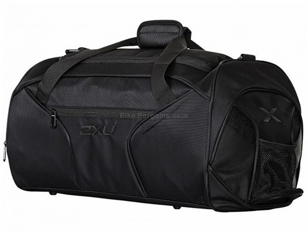 2XU Gym Duffel Bag 45 Litres, Black, Polyester, Nylon