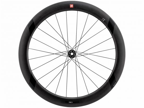 3T Discus C60 Ltd Stealth TR Front Road Wheel 700c, Black, Front, Shimano, 895g