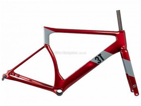 3T Strada Team Fat Creations Carbon Road Frame 2020 M, Red, Grey, Disc Brakes, Rigid, 700c, 970g, Carbon