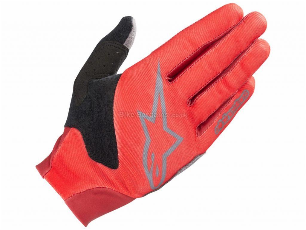 Alpinestars Aero V3 Full Finger Gloves XXL, Orange, Black, Unisex, Full Finger, Polyester, Polyamide