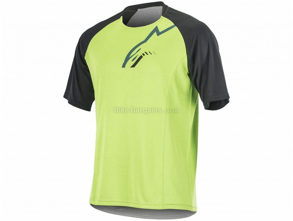 Alpinestars Trailstar Short Sleeve Jersey XL, Yellow, Black, Men's, Short Sleeve, Polyester